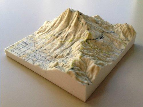 3D карта Японии в цвете