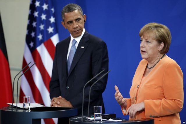 Обама и Меркель